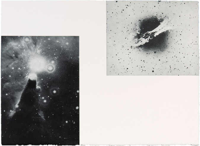 Cosmic clouds/ milky ways, 1964_E.A._63x45 cm_bkf Rieves White 270 g